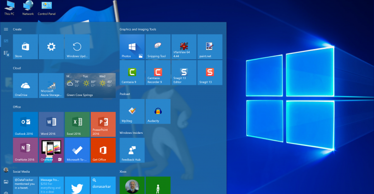 Creators Update | You can fully customize your systems Start Menu