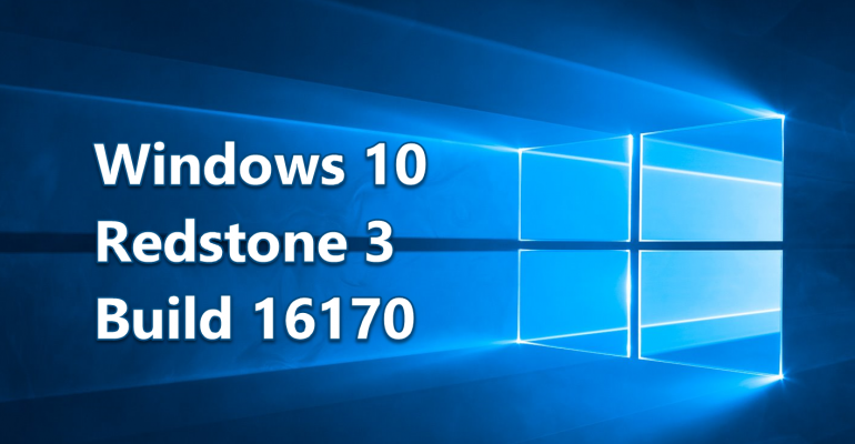 Redstone 3: Initial PC Build 16170 Released for Windows Insiders in Fast Ring