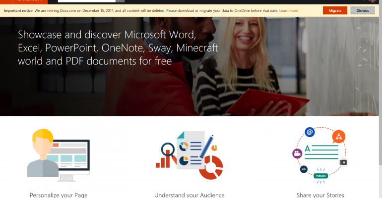 Microsoft is Shutting Down Docs.com File Sharing and Storage Service in December 2017