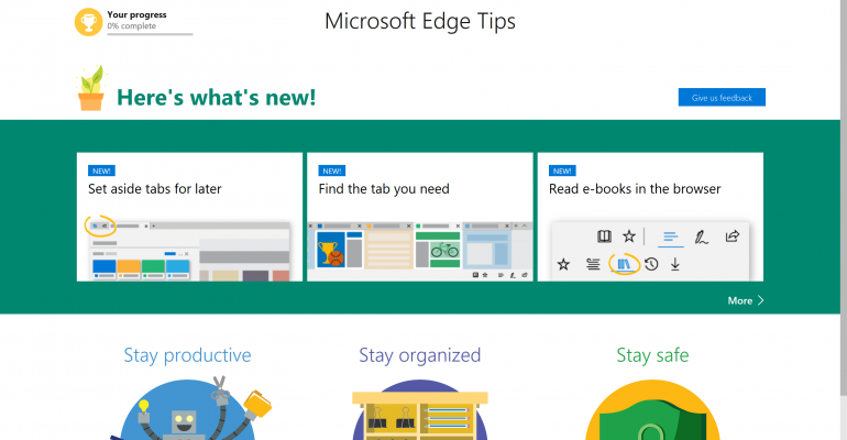 Resources: Evaluating Microsoft Edge for your Organization
