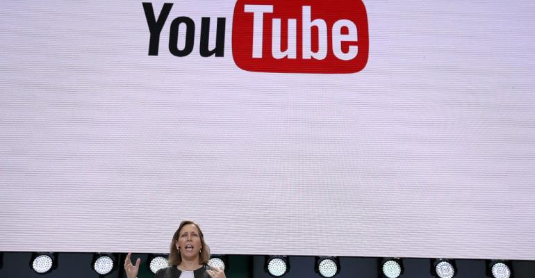YouTube CEO Susan Wojcicki speaks during the opening keynote address at the Google IO 2017 Conference at Shoreline Amphitheater on May 17 2017 in Mountain View California