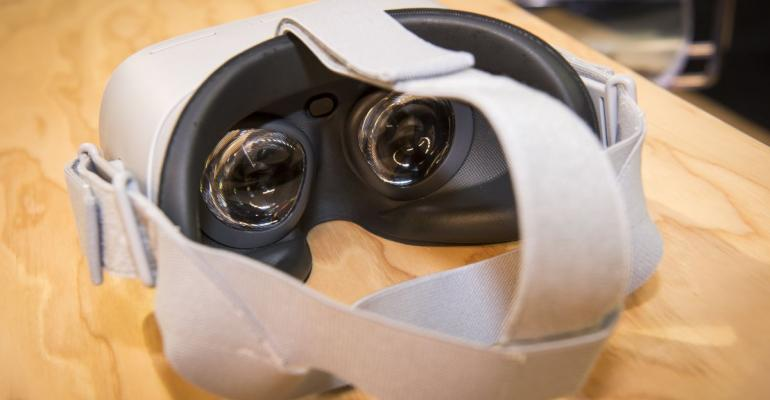 The Oculus VR Inc. Go wireless virtual reality (VR) headset Photographer: David Paul Morris/Bloomberg