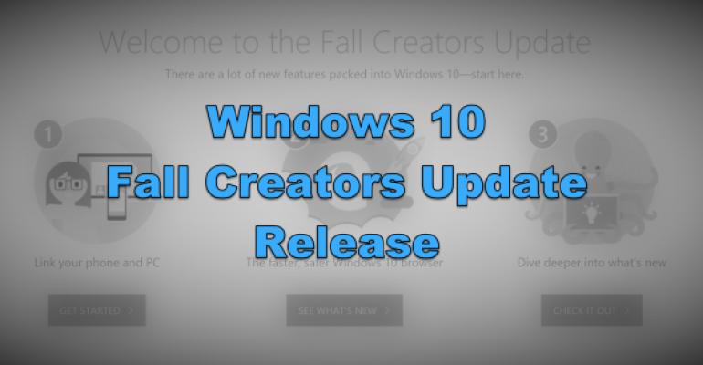 Welcome Banner - Windows 10 Fall Creators Update Release
