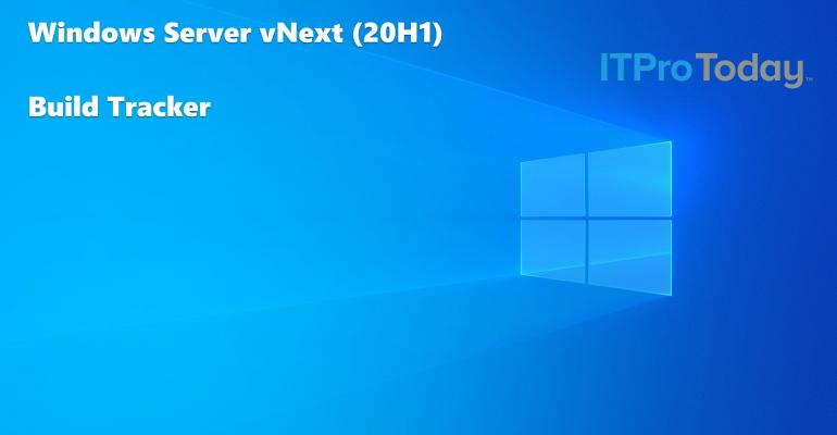 Windows Server vNext Build Tracker Hero Image Blue Background Windows Logo