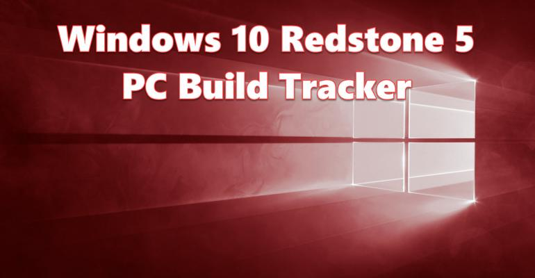 Windows 10 Redstone 5 PC Build Tracker Hero Image