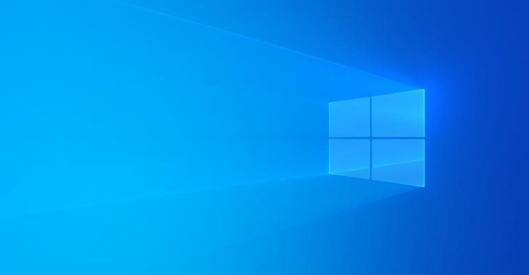 Windows 10 (Light) Theme Wallpaper with Blue Windows Logo