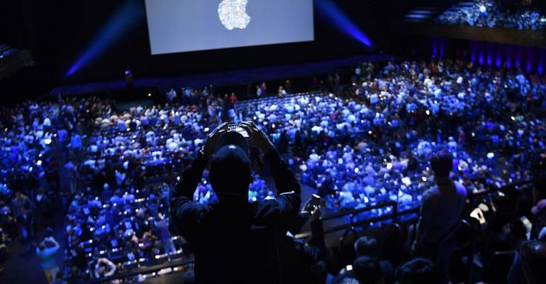 Crowd shot at an Apple developer conference
