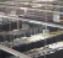 Overhead view of rows of IT racks inside Evoque's data center in Ashburn, Virginia