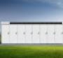 Rendering of Tesla Megapack battery cabinets