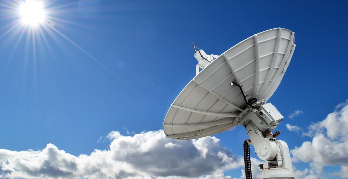 A satellite ground station