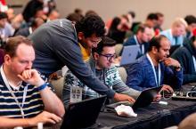 Developers participate in a hackathon at Google Cloud Next 2019