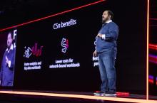 Peter DeSantis, AWS VP of global infrastructure, speaking at AWS re:Invent 2018 in Las Vegas