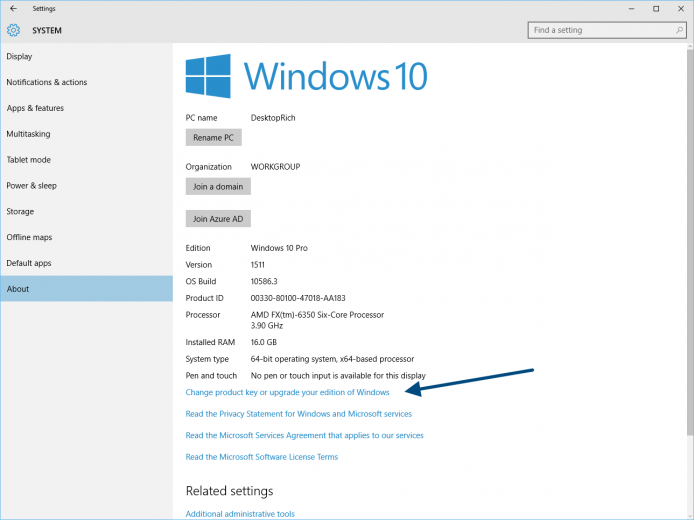 find your windows 10 product key after upgrade
