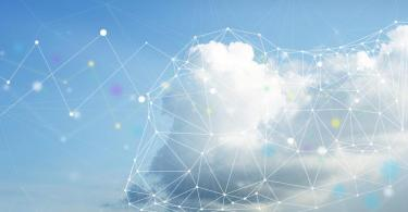Conceptual image of clouds with endpoints