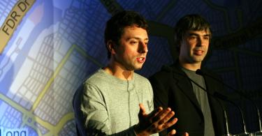 Larry Page and Sergey Brin of Google and Alphabet