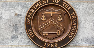 US treasury plaque