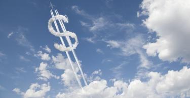 dollar sign in the clouds