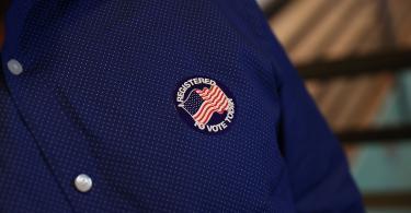voter registration sticker