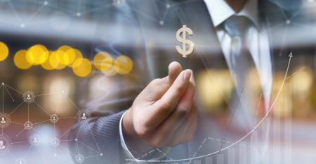 businessman money data bank