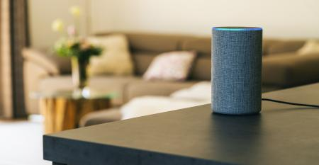 amazon alexa speaker in a home