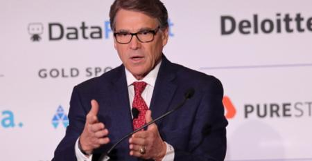 Photo of Rick Perry, former U.S. Secretary of Energy, speaking at AI Summit in New York in December 2019