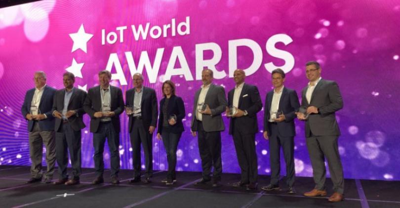 IoT World Award winners on stage in Santa Clara