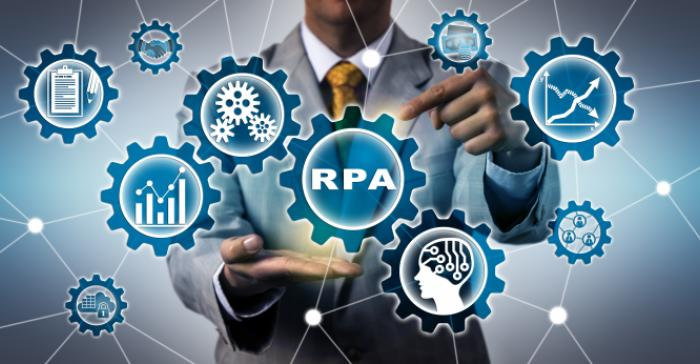 rpa visual man with gears