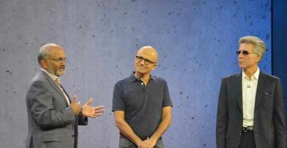 the CEOs of Microsoft, SAP and Adobe -- Satya Nadella, Bill McDermott and Shantaru Narayen