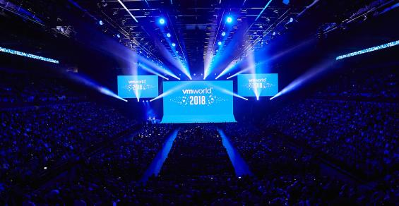 Keynote audience at VMworld 2018 in Las Vegas