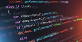 JavaScript code on computer screen