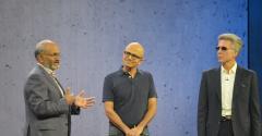 the CEOs of Microsoft, SAP and Adobe -- Satya Nadella, Bill McDermott and Shantaru Narayen