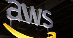 AWS logo, shot at Salon Viva Technology 2019, Startup Connect Day Two in Paris
