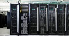HPE Synergy racks in a data center