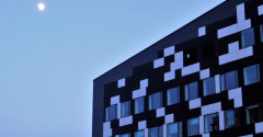 Office building with block-like windows