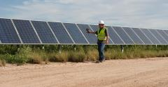 The Webberville Solar Farm in Webberville, Texas