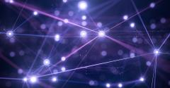 edge computing abstract purple
