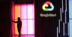 Google Cloud logo illuminated