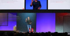 Oracle co-founder, chairman, and CTO speaking at Oracle OpenWorld 2019 in San Francisco