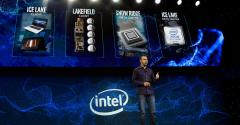 Intel Executive VP and General Manager Data Center Group Navin Shenoy speaks during an Intel press event for CES 2019 in Las Vegas.