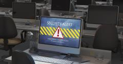 security alert on laptop