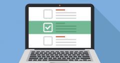 checklist on laptop