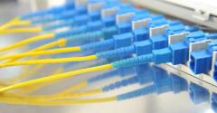 yellow and blue datacenter cables