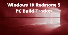Windows 10 Redstone 5 PC Build Tracker Hero Image