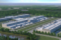 Rendering of a three-data center campus Facebook is currently building in New Albany, Ohio