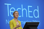 Julia White presenting a demo at Microsoft TechEd 2014