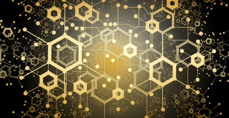 Hexagons connected like a block chain.png