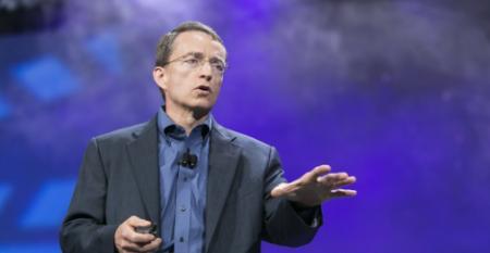 VMware CEO Pat Gelsigner speaking at VMworld 2014 in San Francisco.