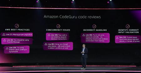 Andy Jassy introducing Amazon CodeGuru