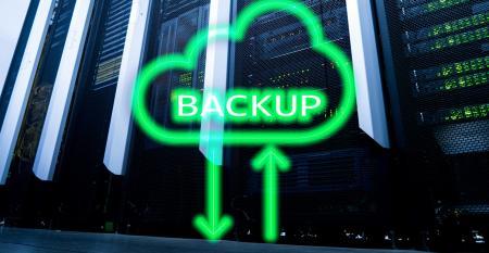 cloud with backup written inside