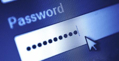 Computer Screen Showing Password Dialog Box